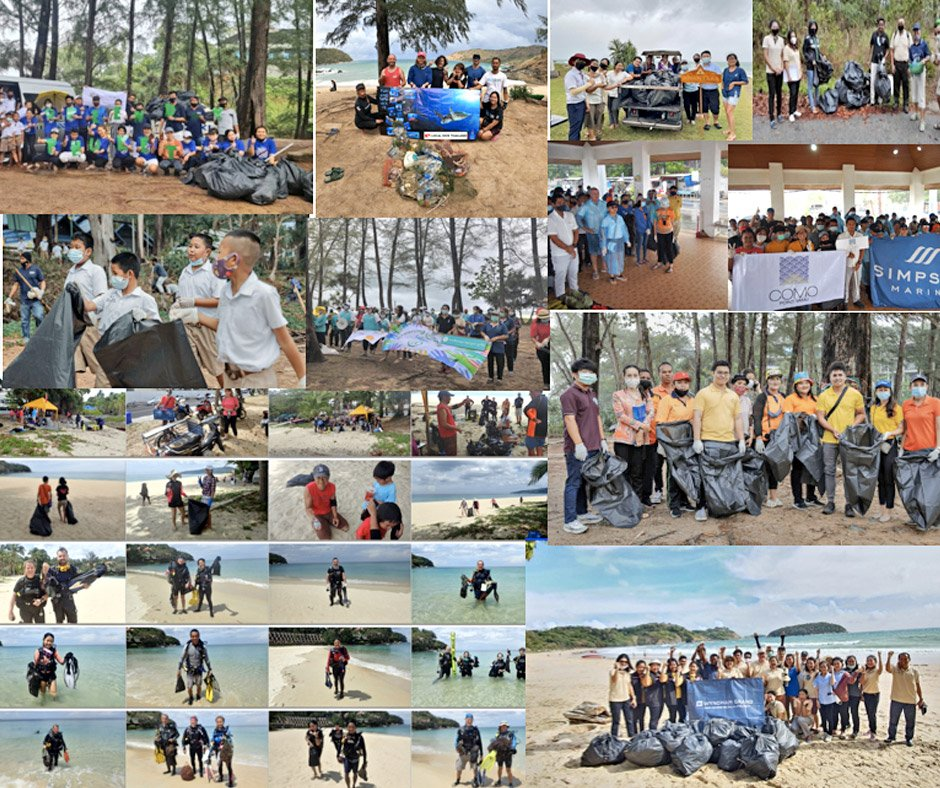 Over 700 volunteers clean-up for PHUKET Green Day Event
